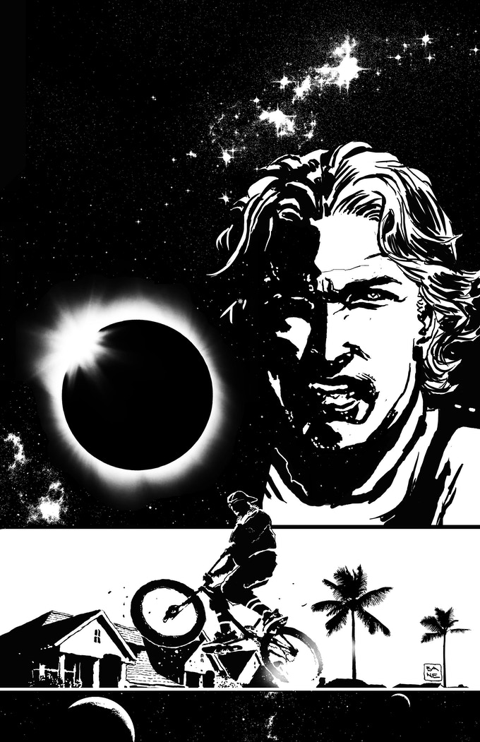 Solar Flare #2 Limited Edition Cover -Black & White