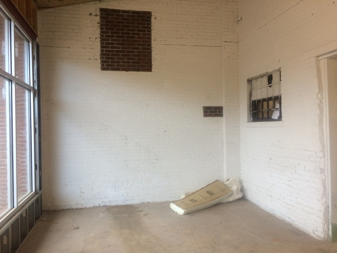 The inside of our space...before