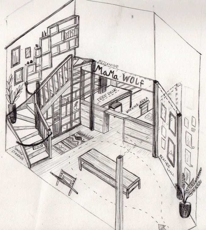 This is a drawing of our plan for the space
