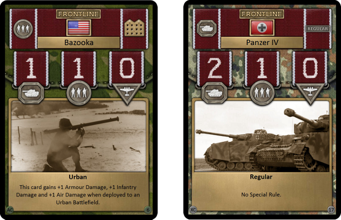 Front line cards are your troops at the heart of the action and are the only cards that can actually win Battlefields for you