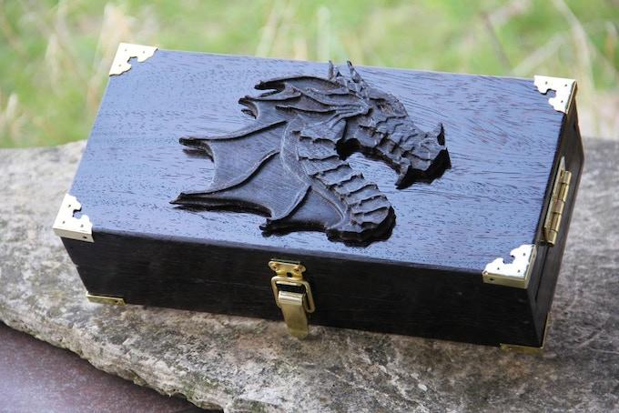 Premium Wenge wood, Dragon Profile wood sculpt