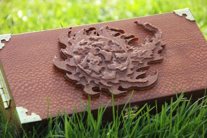Premium Leopardwood, Fireball wood sculpt.