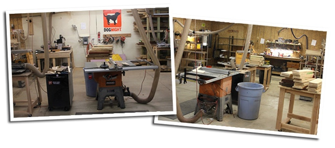 Our 1200 sqft woodshop in Michigan