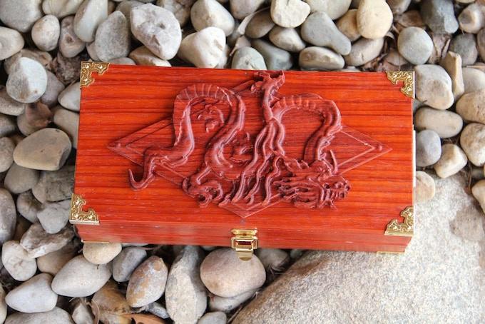 Premium Padauk wood, Eastern Dragon wood sculpt