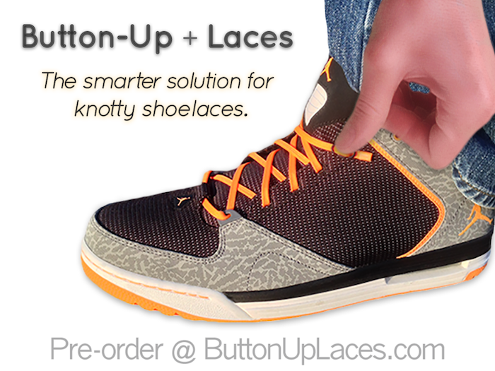 A Button System for fastening Shoelaces. +PLUS+ A Wall Mount for items attached to a Lanyard, Wrist Strap, Cord or Key Chain!
