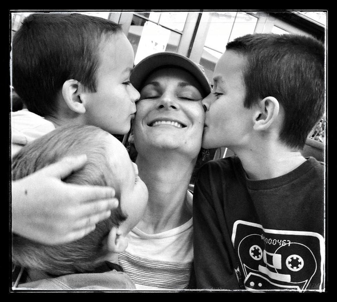 My wife, Angela with three of our five kids - (L-R) Reilly, Dakota, and James - ©Thomas Hurst - COVR Photo