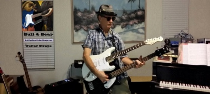 Playing Instrument #2 - Gretch short-scale BASS