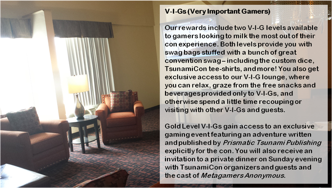 Our TsunamiCon VIG Lounge is a luxury suite with an amazing view!