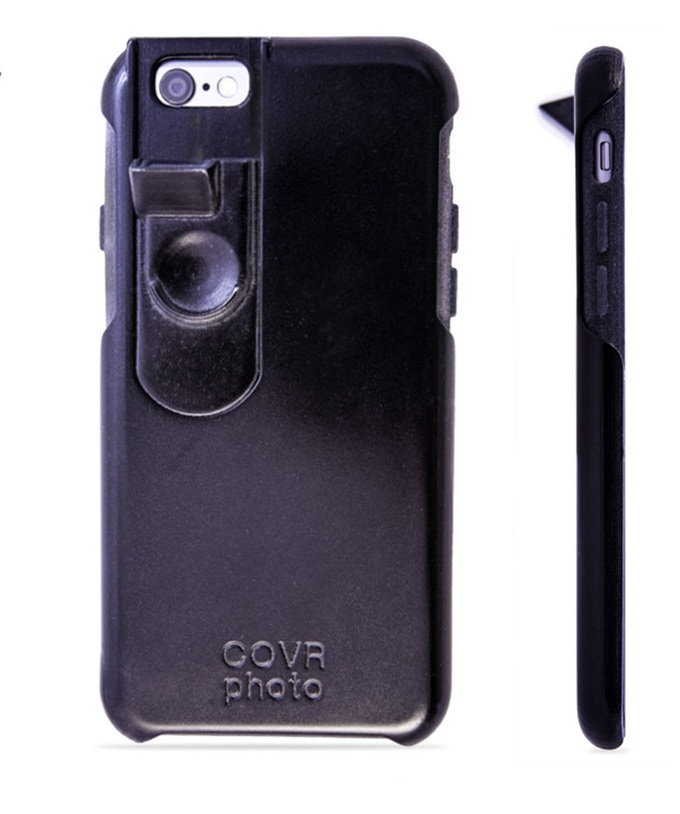 The COVR Camera-Lens is built into a slide housing unit allowing you the option of shooting with the COVR Lens or sliding the COVR Lens back and shooting pictures or video with your regular iPhone camera lens.
