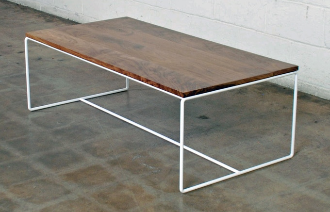 Wire Coffee Table in White