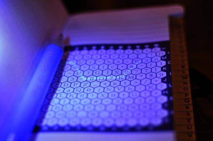 Early prototype under UV light