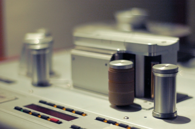 We own 17 multi-track tape machines. Here's a Gold Edition Studer 827 24-track from Switzerland