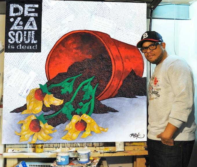 Original Painting of De La Soul Is Dead by Joe Buckingham