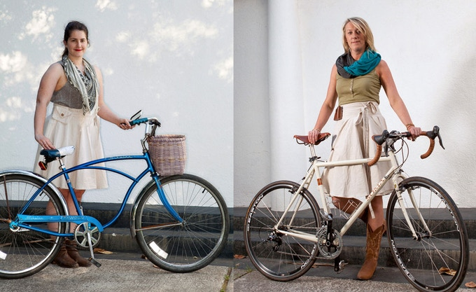 Pictured in our two sizes: short (left) and tall (right). Model on the left is 5'7; model on the right is 6'0.
