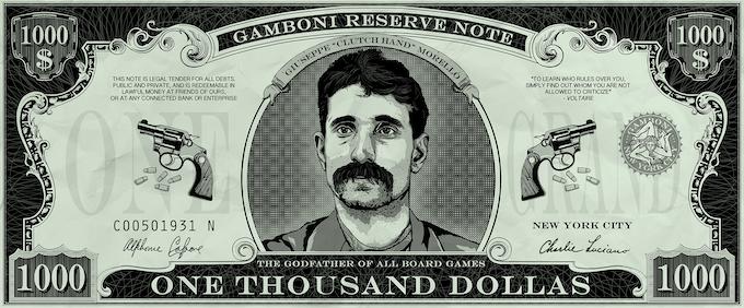 "50 x GAMBONI $ 1,000 dollas. Size: 10 * 4 cm / 4"" * 1"" Quality paper"