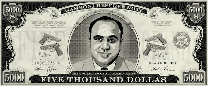 "50 x GAMBONI $ 5,000 dollas. Size: 10 * 4 cm / 4"" * 1"" Quality paper"
