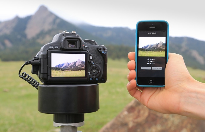 Preview thumbnail images of your time lapse on your phone