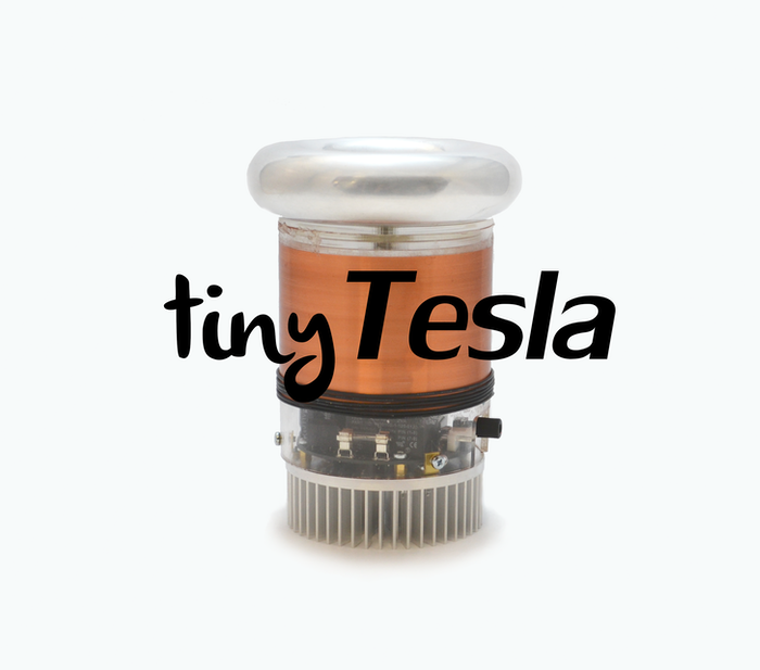 Learn electronics, shoot lightning, and play music using electricity with tinyTesla! Also introducing oneTeslaTS, its big brother.