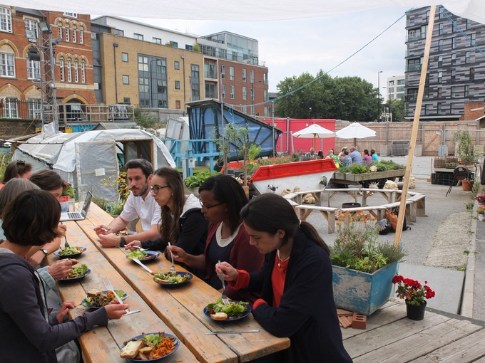 Meal time at the existing Skip Garden