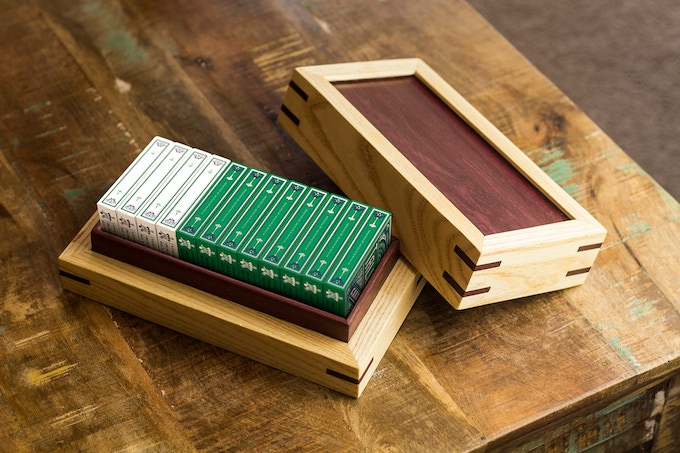 Hand made wooden brick box featured in the K1 pledge tier.
