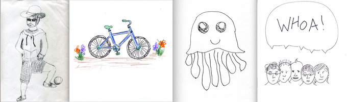 Drawings made w. sketchmi by real kids!