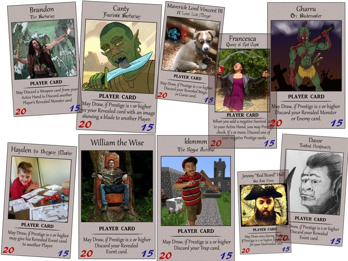 A medley of 2014 Vanity Player Cards