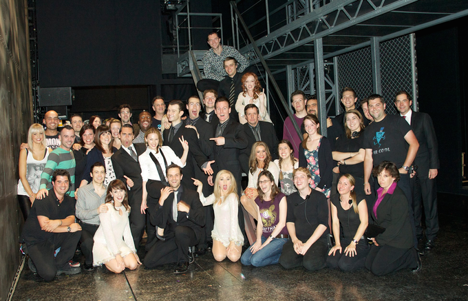 Group London love with the full cast and crew of JBs and of course my ex-girlfriend Kylie...innit :))