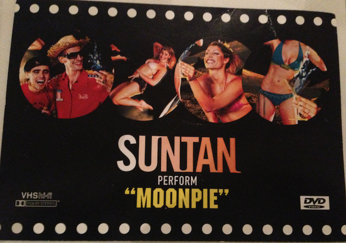 """A picture of the original """"Suntan"""" flyer from the funk show """"Moonpie"""" launched at the 10 Room  London early 2004"""