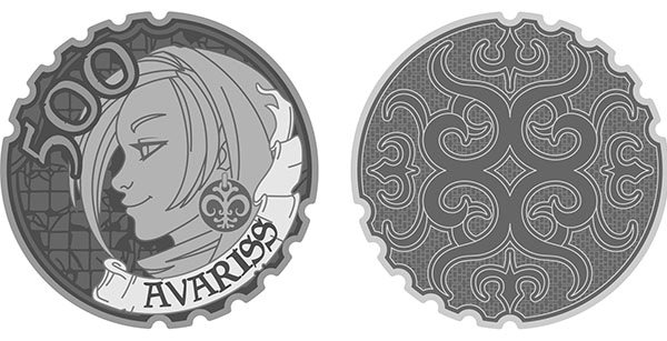 Avariss-500 limited edition coin. Design by Lynda Mills.