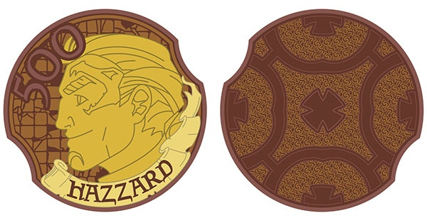 Hazzard-500 limited edition copper coin. Design by Lynda Mills.