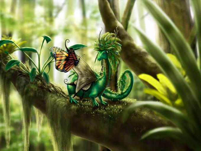 Leafy Dragon by Eo Fenstalker