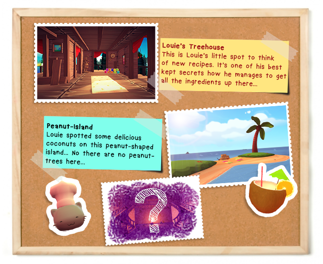 How about a boat-ride around Peanut-Island? ♥ Each stage brings a new twist into the game!