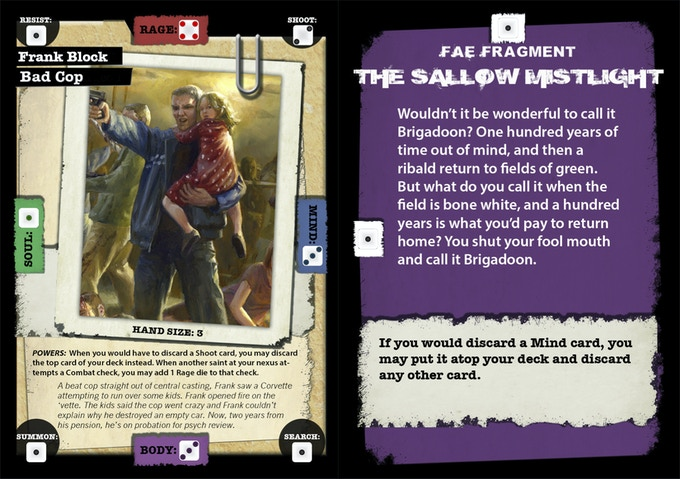 Character and fragment cards. Images not final.