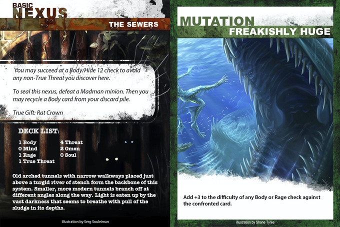 Nexus and mutation cards. Images not final.
