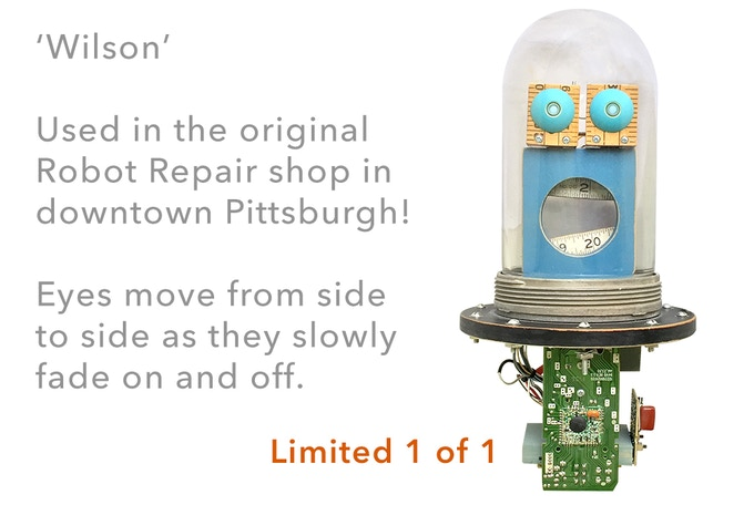 One of a kind prop from the original Robot Repair shop.