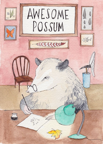 Awesome Possum is a natural science comic anthology collecting art from seven natural science illustrators.