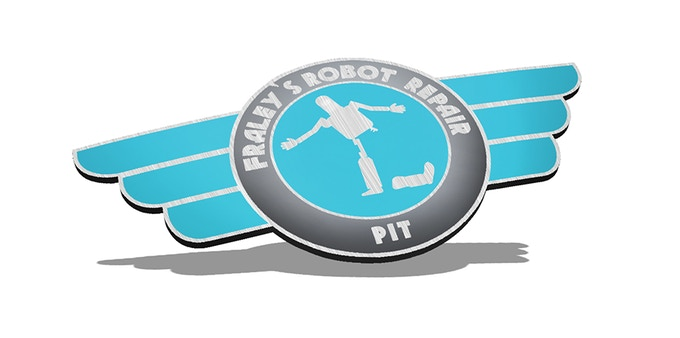 Enameled metal wings pin