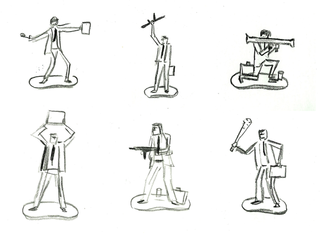 Initial six designs