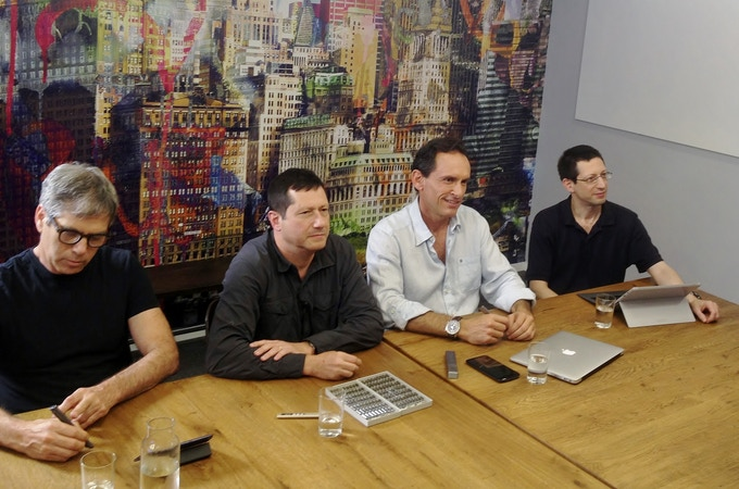 Our core team (from left to right): Elisha Tal (Chief Designer), Dr. Opher Kinrot (Co-Founder, Co-CEO), Gilad Lederer (Co-Founder, Co-CEO), Uri Kinrot (Co-Founder, Chief Engineer)