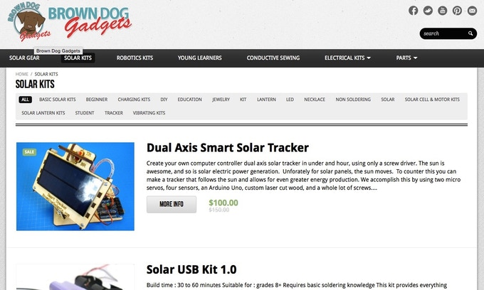 The Badger: Waterproof USB Solar Charger by Brown Dog