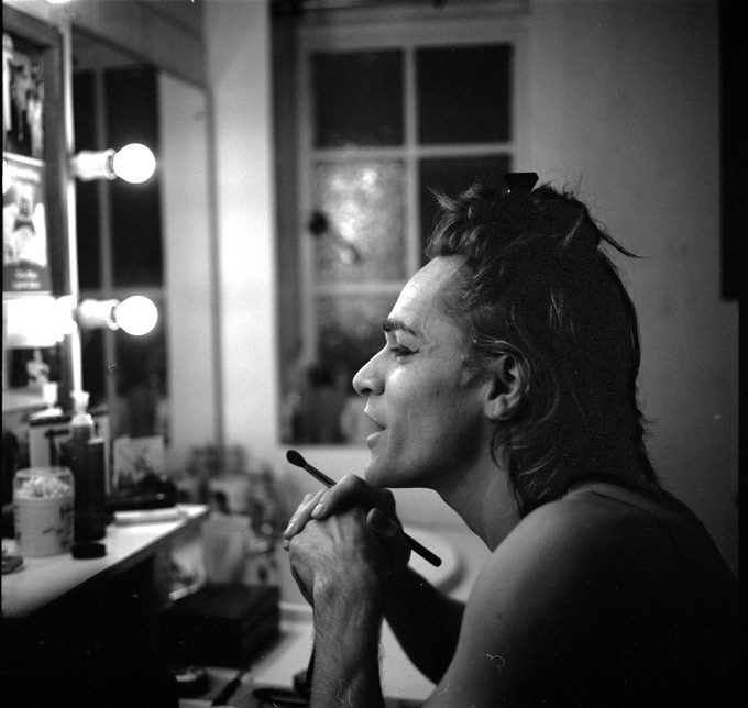 An actor prepares!In the dressing room with Ryan at the Cambridge Theatre.