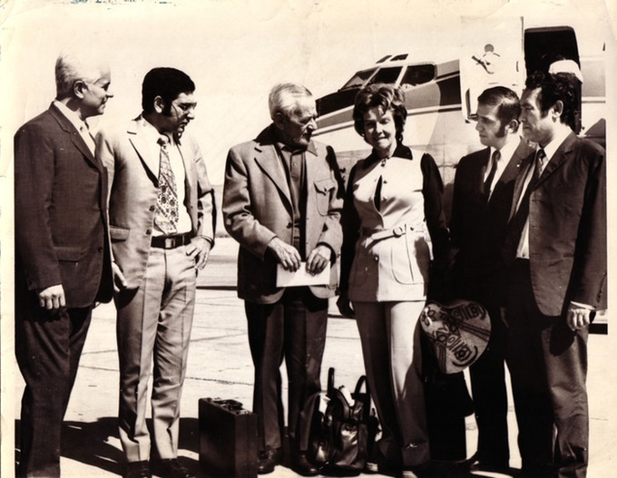 Not knowing who was in this photo turned me into a metadata nerd. It turns out it was my dad greeting William Wyler and his wife at the airport while he was a Regional Manager at PanAm.