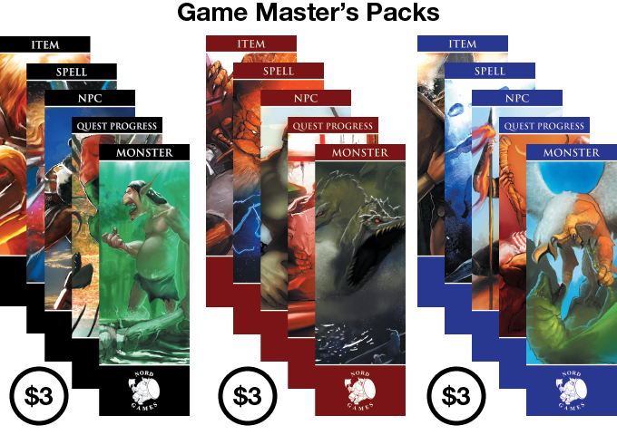 Each GM Pack Includes 18 Bookmarks
