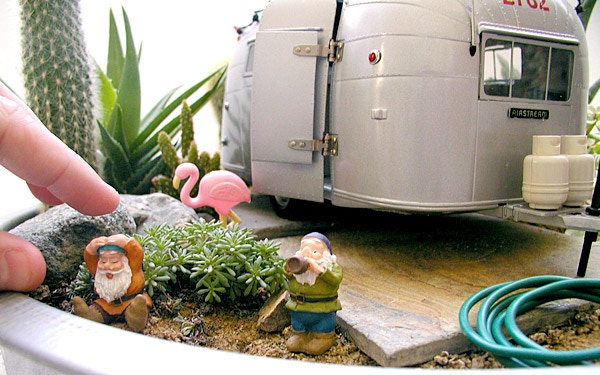 Miniature Airstream Trailer Garden