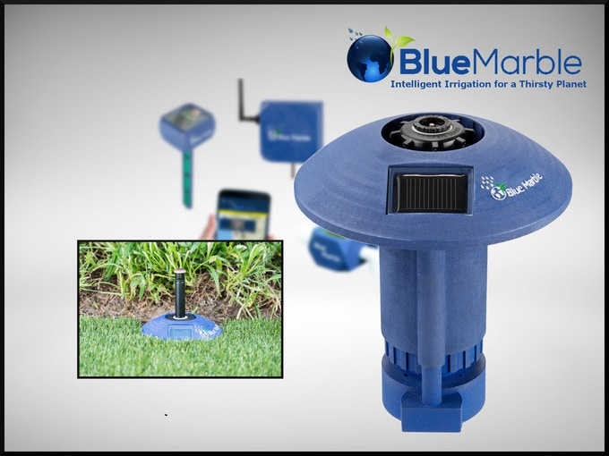Blue Marble remote controlled lawn valves work with the controller and your sprinkler heads to put an end to lawn over-watering and water waste. Attach just one or outfit all your sprinklers for a precisely beautified lawn.