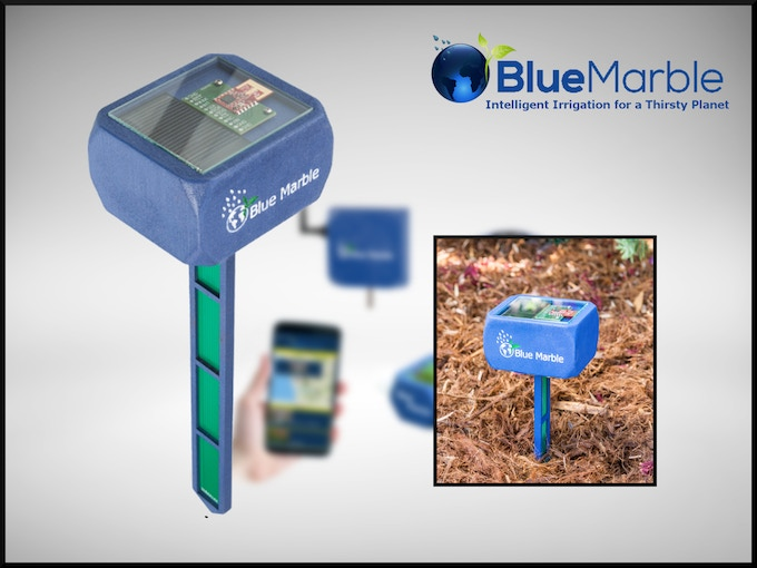 "Blue Marble sensors measure soil moisture, temperature, and light to adjust the amount of water sent to Blue Marble valves. You can give your sensors namess like ""Shady Spot"" or ""Sunny Spot""."