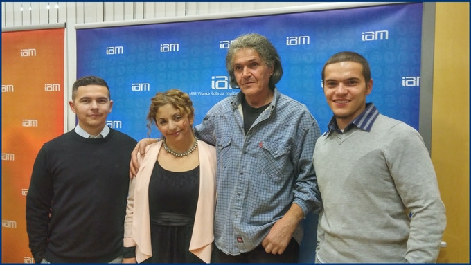 Father Jure with his daughter Carmen-Liza and sons Luka and David.