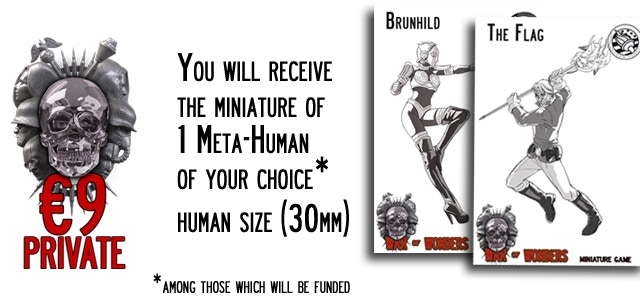 Private - You will receive the miniature of 1 Meta-Human (30mm size) of your choice
