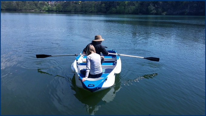 ORIGO boat comes equipped with paddles.