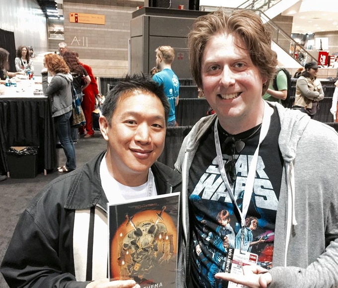 Ming Chen of AMC's Comic Book Men receiving his personal copy!